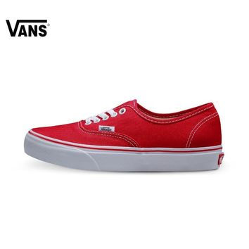 Original Vans Lover's Skateboarding Shoes Red Color Canvas Shoes Authentic Sneakers