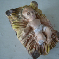 Vintage Chalkware Baby Jesus  Replacement  For Your Private Collection