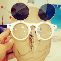 Steampunk Flip Up Double Lens Sunglasses