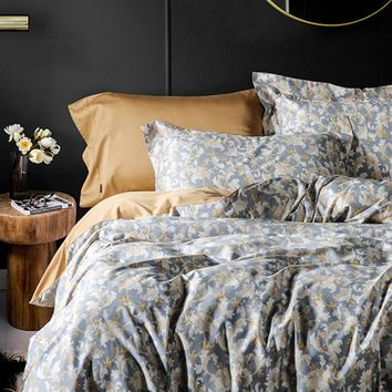 CHAUSUB Quality Europe Bedding Set 4pcs Satin Egyptian Cotton Duvet Cover Set Bed Sheets Pillowcase King Queen Size Bed Linens