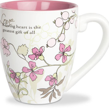 Love...A loving heart is the greatest gift of all Mug