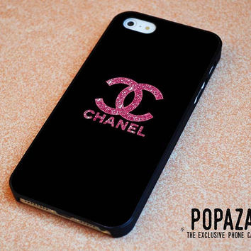 Pink Glitter Sparkly Chanel iPhone 5 | 5S Case Cover