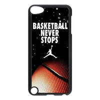 Basketball never stops jordan slam dunk design hard plastic case for Ipod touch 5