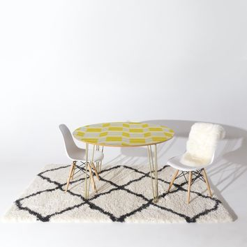 Heather Dutton Delineate Citron Round Table