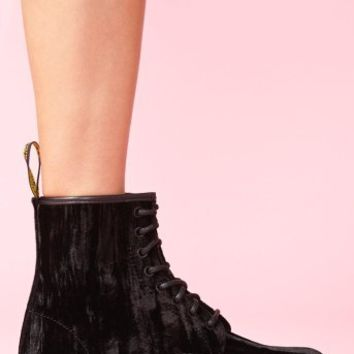 Castel 8 Eye Boot - Black Velvet