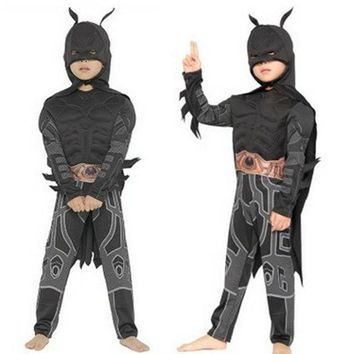 CREY6F M-XL Disfraces Halloween Carnival Batman Costume cosplay Movie Anime Fantasia kids Children The Avengers Cosplay Boys costume