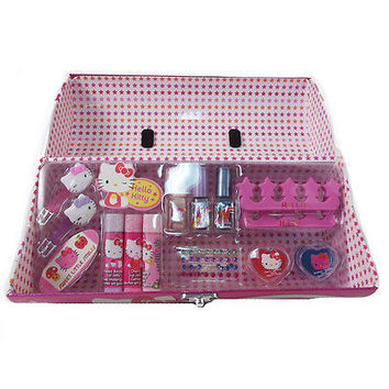 Sanrio Hello Kitty Roll Box Cosmetic Set by Sanrio-Brand New with Tags!