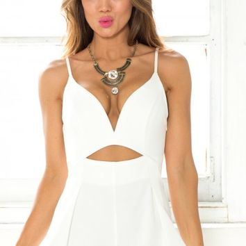 A Mile High Playsuit in White