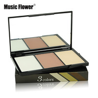 Music Flower Loose Pressed Powder Palette Face Makeup Contour Cream Shade Eyeshadow Concealer Foundation Professional Cosmetics