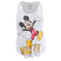 Mickey Mouse - Leap Logo Juniors Tank Top
