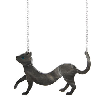 'Sausage' Cat Necklace | Little Moose | Quirky jewellery and playful accessories that raise a smile and stand out from the crowd
