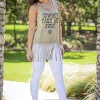 Cowboy Take Me Away Tank | Tops | Kiki LaRue