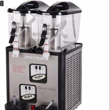 Double Tanks Slushie Machine 6L*2 Slush Dispenser