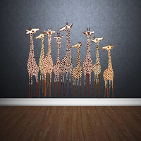 Full Color Wall Decal Mural Sticker Decor Art Poster Gift Giraffe Africa (col326)
