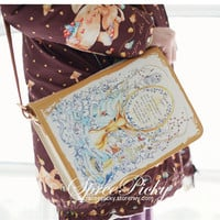Amazing Deer Vintage Literature Single Shoulder Bag Handbag free ship SP130309 from SpreePicky