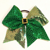 St Patrick's Day Cheer Bow