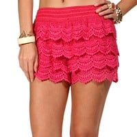 Fuchsia Pull On Crochet Short