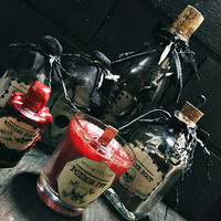 Potion Bottles Set -  Wiccan Altar Kit - Witchy Decor - Spell Bottles - Voodoo Medicine - Apothecary Bottles - Pagan Altar - Witchcraft