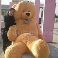"118"" GIANT stuffed animal  brown teddy bear plush toy"