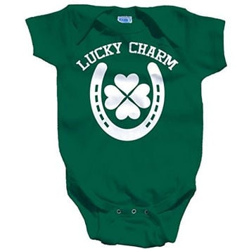 Shirts By Sarah Baby St. Patrick's Day Creeper Lucky Charm One Piece Creeper