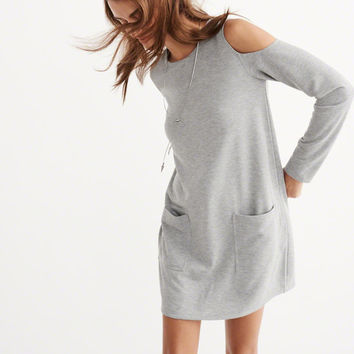 Womens Fleece Shift Dress | Womens New Arrivals | Abercrombie.com