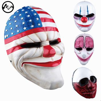 Scary Plastic Clown Masks