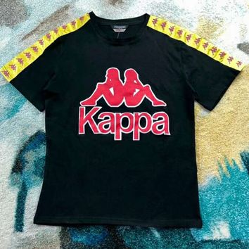 KAPPA VINTAGE Couples Standard Three-Dimensional Printed Cotton T-Shirt F-XMCP-YC black