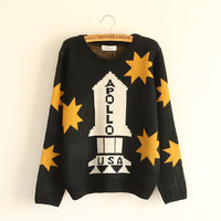 Fall and winter clothes new rocket star sweater