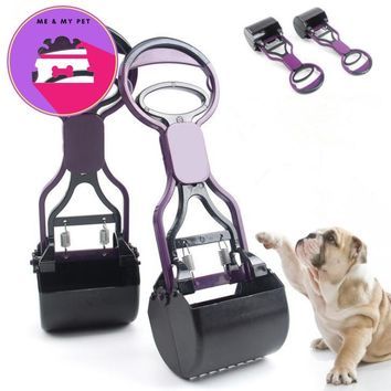 Hot Portable Pet Dog Cat Waste Garbage Poop Cleaning Supplies Long Handle Jaw Dogs Poop Scoop Clean Pick Up Animal Waste