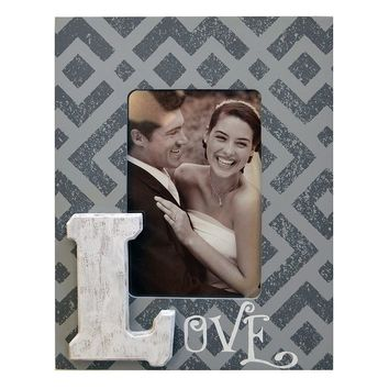 New View ''Love'' 4'' x 6'' Frame (Grey)