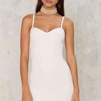 Sweetheart Major Mini Dress - White