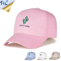 Cactus Embroidery Cotton Baseball Cap For Women Girls Casual Snapback Hip Hop Gorras Casquette Fashion Ovo Drake Hats Dad Hat