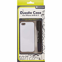 Kids white doodle iPhone case