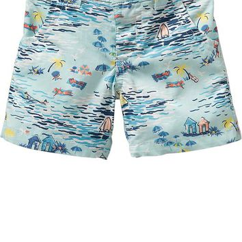 Old Navy Vacation Scene Shorts For Baby