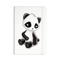 "Geordanna Cordero-Fields ""My Panda Sketch"" Black White Everything Notebook"