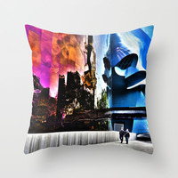 EMP Museum Seattle, (The Color of Rock), Seattle Art, Fine Art Photography Throw Pillow by Monakhalil | Society6