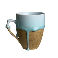 blue flow glaze mug