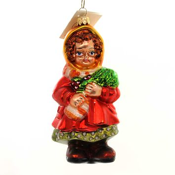 Christopher Radko EVERGREEN TIME Glass Girl Christmas 982190 Holly
