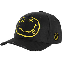 Nirvana Men's  Smiley Baseball Cap Black Rockabilia