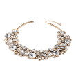 FOREVER 21 Rhinestone Statement Necklace Gold/Clear One