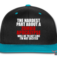 Zombie apocalypse for dark Snapback
