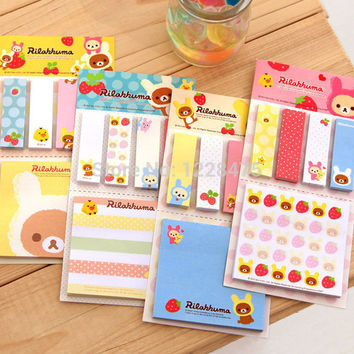 1pack lot cartoon rilakkuma styles Notepad sticky note Memo Removeable paper Novelty stationery office supplies School