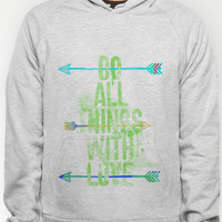 Do all things with love. Hoody by Sara Eshak | Society6