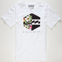 Billabong Hex Mens T-Shirt White  In Sizes