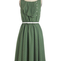 Long Sleeveless A-line Very Sage Advice Dress