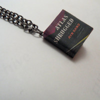 Atlas Shrugged by Ayn Rand Miniature Book Pendant by myevilfriend