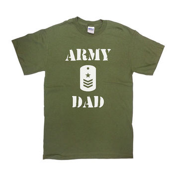 Army Dad Shirt Proud Army Dad T-Shirt Gift For Dad Father's Day TShirt Christmas Birthday Navy Air Force Coast Guard Mens Tee - SA296