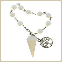 """Blockage Removing"" Opalite Tree of Life Pendulum Bracelet"