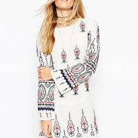 ASOS Premium Embroidered Babydoll Dress