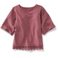 Old Navy Lace Trim Jersey Tee